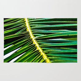 Green Palm Poetry Rug
