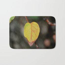 Red and Yelow Leaf Bath Mat