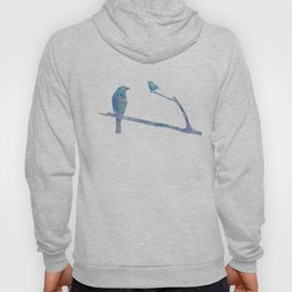 Birds On Branch Watercolor Painting Hoody