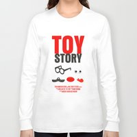 toy story Long Sleeve T-shirts featuring Toy Story Movie Poster by FunnyFaceArt