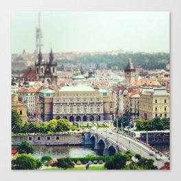 Prague De L'Autre Rive Canvas Print