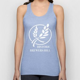 Brewers Hill Neighborhood White Signage Unisex Tank Top