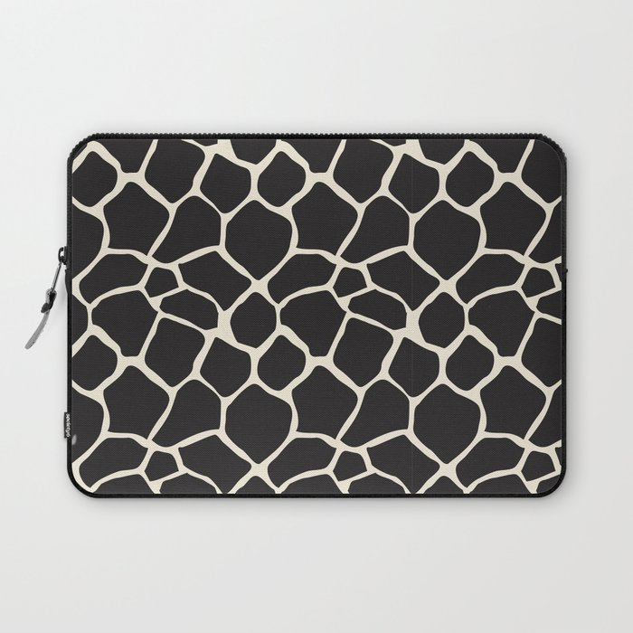 727bd994cae4 Giraffe Pattern Animal Print (black ) Laptop Sleeve by beezkneez ...