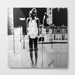 City walker bw Metal Print