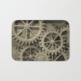 Steampunk Cogwheels Bath Mat