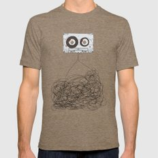 Analog Unravelled Mens Fitted Tee Tri-Coffee SMALL