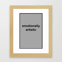 IT Crowd: Emotionally Artistic Framed Art Print