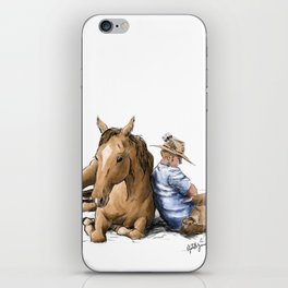 Siesta | Sleeping Horse & Cowboy iPhone Skin