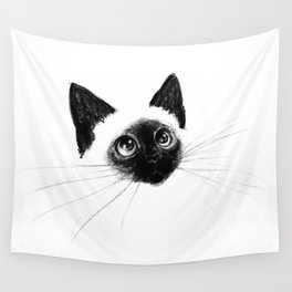 Curious Siamese Kitten Wall Tapestry