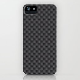 Black & Grey Simulated Carbon Fiber iPhone Case