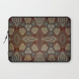 Whirling spirals in earthy early painting style Laptop Sleeve