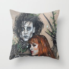 """Oh, Edward"" Throw Pillow"