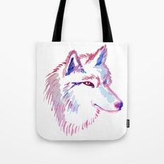 Wolf Watercolor Print Tote Bag