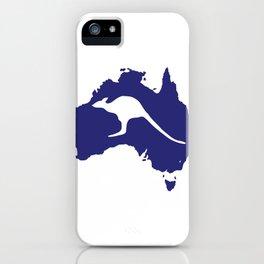 Australia Map With Kangaroo Silhouette iPhone Case