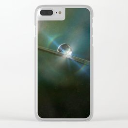Sun Moon Clear iPhone Case