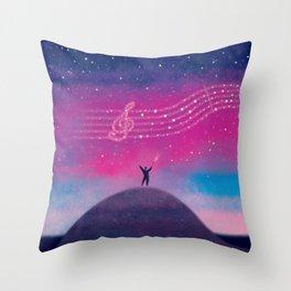 Maestro of Stars Throw Pillow