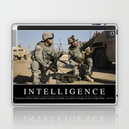 Intelligence: Inspirational Quote and Motivational Poster Laptop & iPad Skin