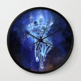 Deep Space Embrace Wall Clock