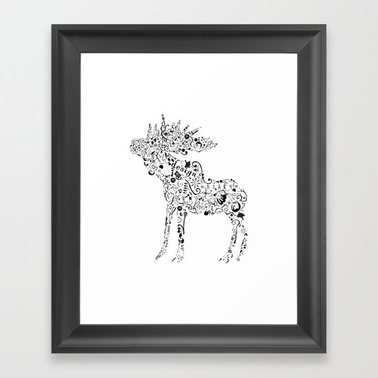 Many shapes of the Moose Framed Art Print