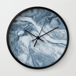 Cipollino Azzurro blue marble Wall Clock