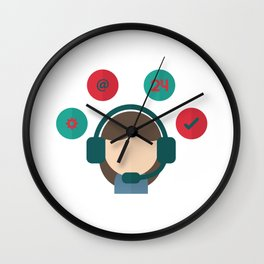 Superhero Administrative Assistant Wall Clock