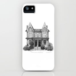 Victorian Bay & Gable, Cabbagetown - Architectural Styles of Toronto Houses iPhone Case