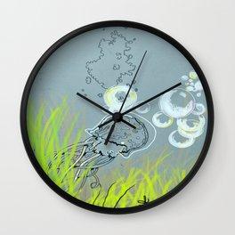 Squid Redone Wall Clock