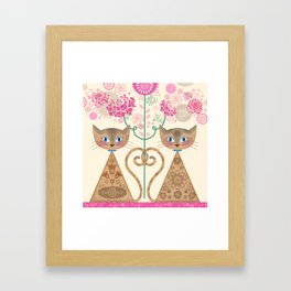 We Are Siamese Framed Art Print