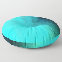 Into The Blue Floor Pillow