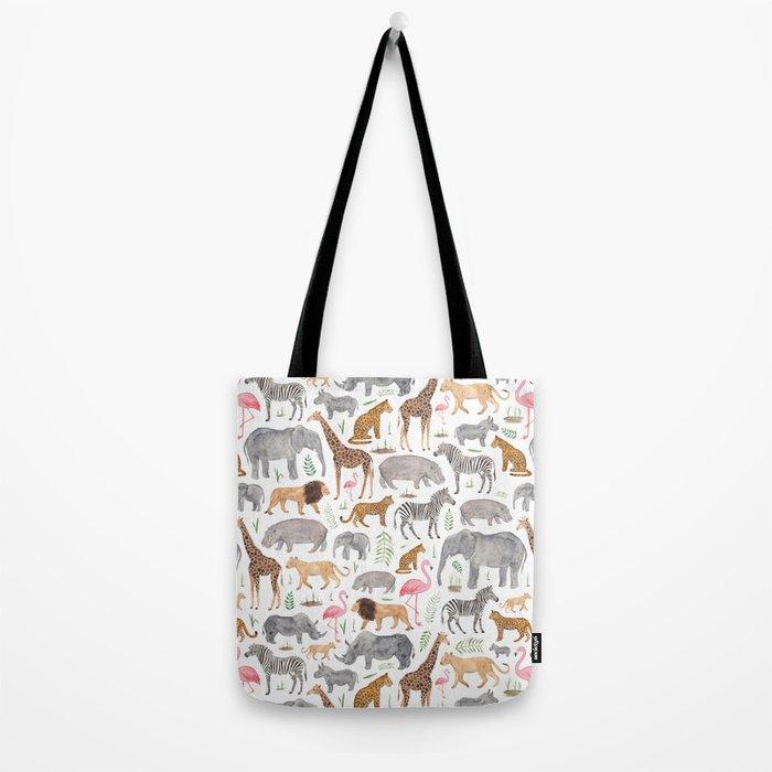 Safari Animals Tote Bag