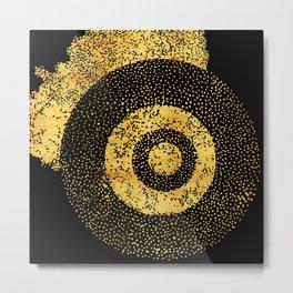 gold target Metal Print