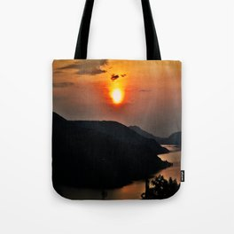 Sunset and the river Tote Bag