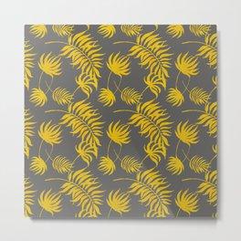 Luxury Gold Leaf on Charcoal Metal Print