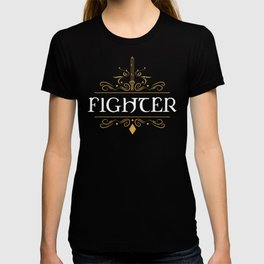 DnD Fighter Character Class Dungeons and Dragons Inspired Tabletop RPG Gaming T-shirt