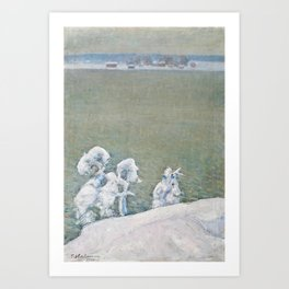 PEKKA HALONEN, NEWLY FALLEN SNOW. Art Print