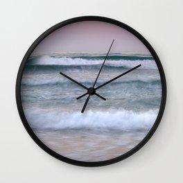Sea waves. Summer sunset Wall Clock