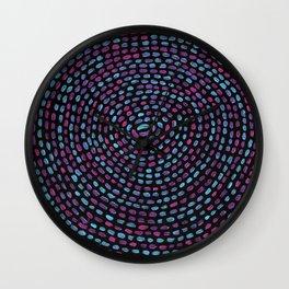 Circular Mosaic Wall Clock