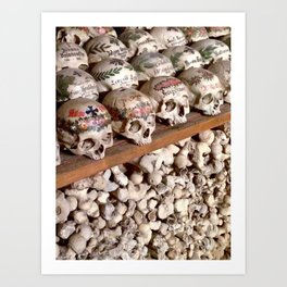 "Hallstatt, Austria Beinhaus ""Bone House"" Art Print"