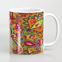 paisley Mugs featuring Paisley by Aimee St Hill