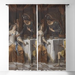 Jan Steen - The Banquet of Anthony and Cleopatra Blackout Curtain