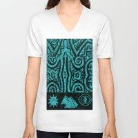 stargate V-neck T-shirts featuring Giza Stargate by LuxMundi