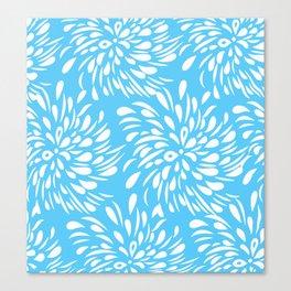 DAHLIA FLOWER RAIN DROPS TEAR DROPS SWIRLS PATTERN Canvas Print