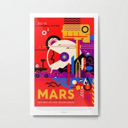 Mars. Retro Futurism Metal Print