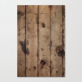 Burnt WoodGrain Canvas Print