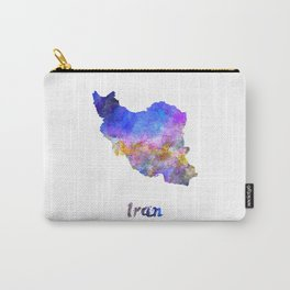 Iran in watercolor Carry-All Pouch