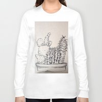 cacti Long Sleeve T-shirts featuring Cacti by Goni Halevy