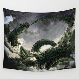 Jormungandr the Midgard Serpent Wall Tapestry