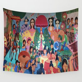 Pista sa aming nayon/ Our Town Feast Wall Tapestry