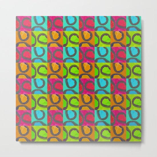 squares & curls Metal Print