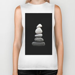 balance pebble art Biker Tank